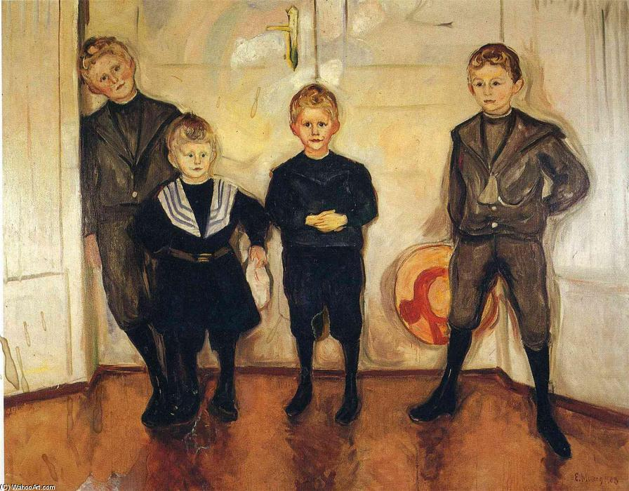 famous painting The Four Sons of Dr. Linde of Edvard Munch