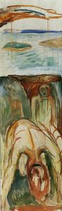 Edvard Munch - Fragment of War (also known as The Storm)