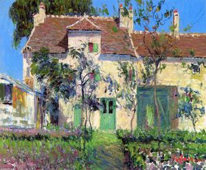Gustave Loiseau - The Garden Behind the House