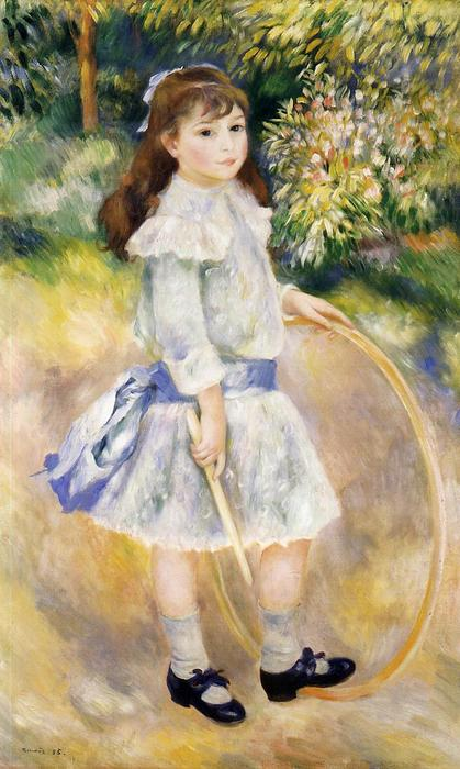 famous painting Girl with a Hoop of Pierre-Auguste Renoir