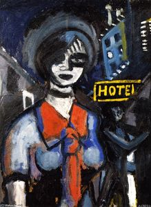 Auguste Chabaud - Girl with a Red Tie