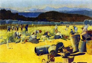 Henri Edmond Cross - Grape Harvest (var)