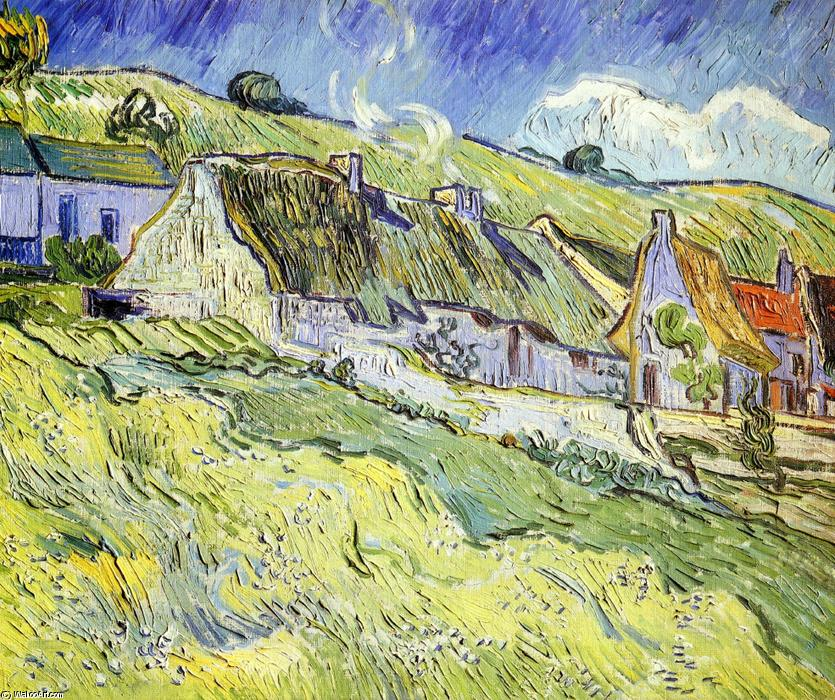 famous painting A Group of Cottages of Vincent Van Gogh