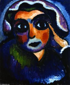 Alexej Georgewitsch Von Jawlensky - Head with Hand
