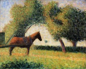 Georges Pierre Seurat - Horse and cart