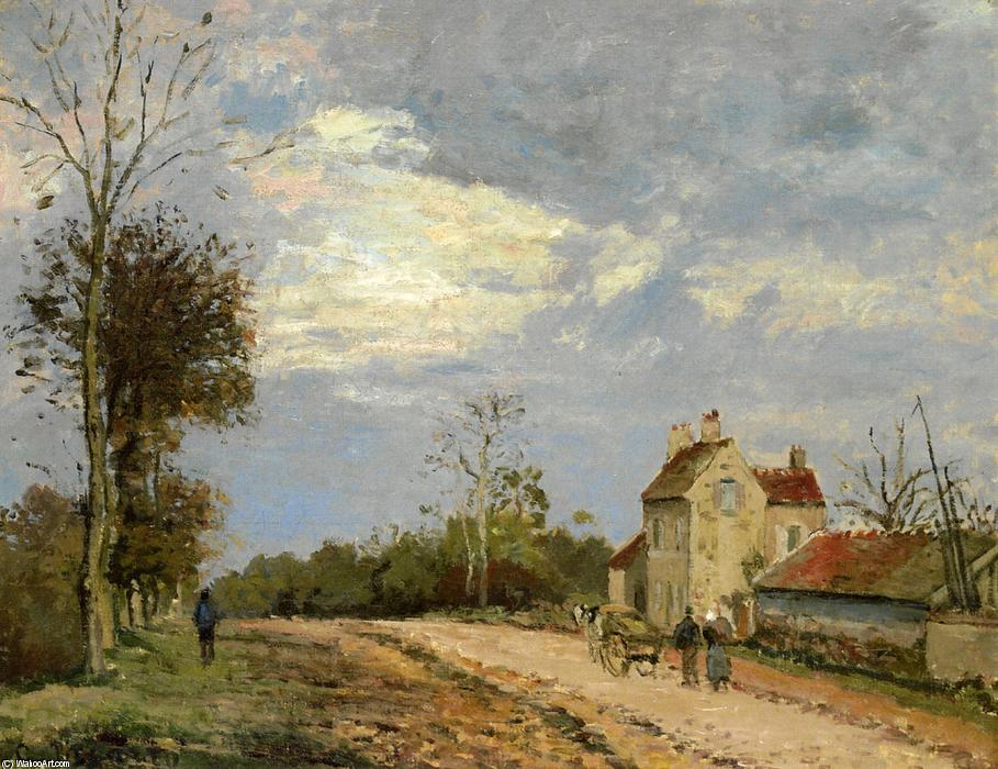 famous painting The House of Monsieur Musy, Route de Marly, Louveciennes of Camille Pissarro