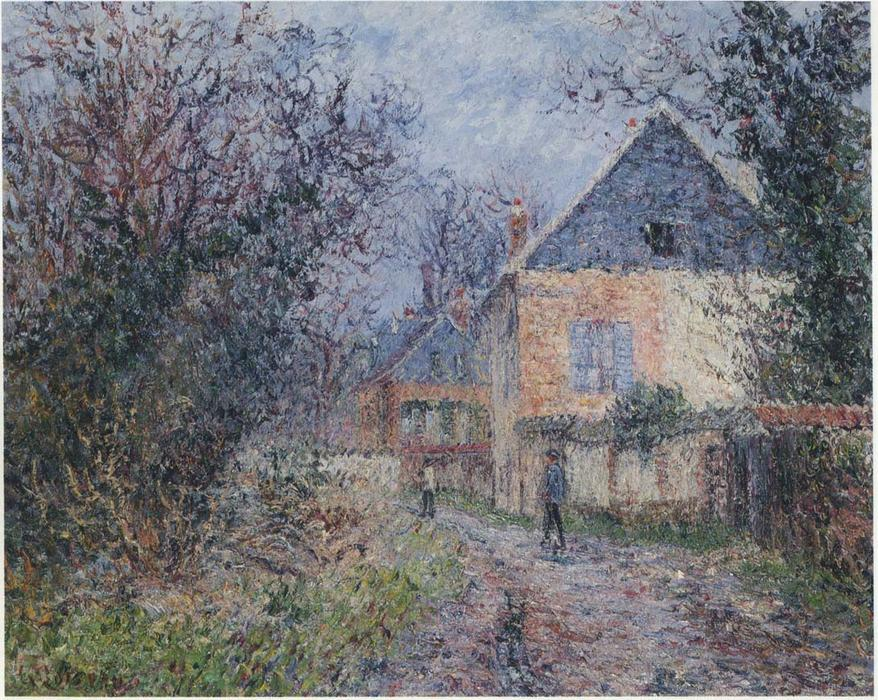 Order Reproductions | Houses near the Eure by Gustave Loiseau | Most-Famous-Paintings.com