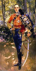 Joaquin Sorolla Y Bastida - The King Alfonso XIII in a Hussar's Uniform