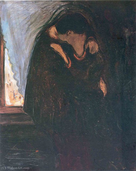 Order Paintings Reproductions | Kiss by Edvard Munch | Most-Famous-Paintings.com