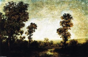 Ralph Albert Blakelock - Landscape with Walled Town