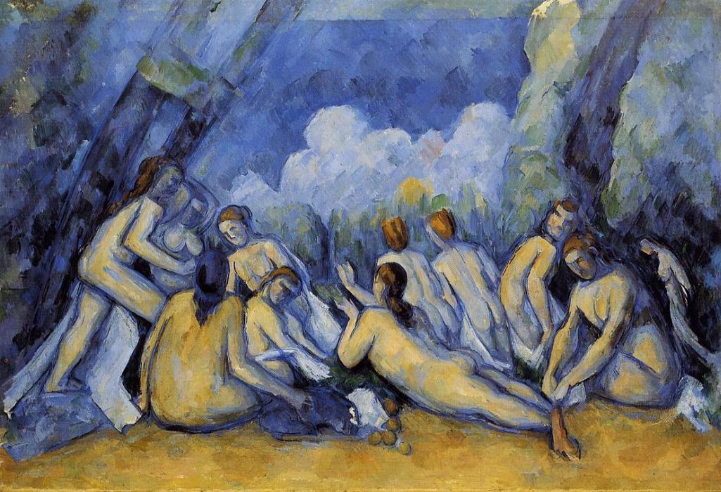 Buy Museum Art Reproductions | The Large Bathers by Paul Cezanne | Most-Famous-Paintings.com
