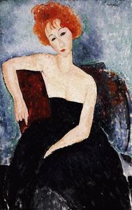 Amedeo Modigliani - Red-headed Girl in Evening Dress