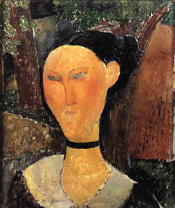 Amedeo Modigliani - Woman with Velvet Ribbon (The Black Border)