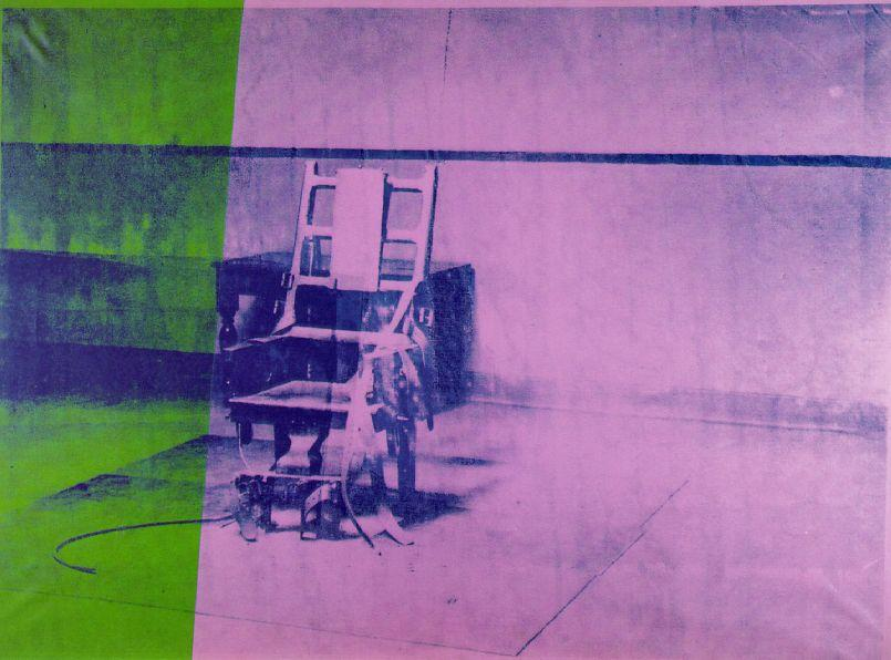 famous painting Big electric chair of Andy Warhol