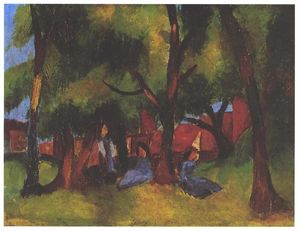 August Macke - Children and sunny trees