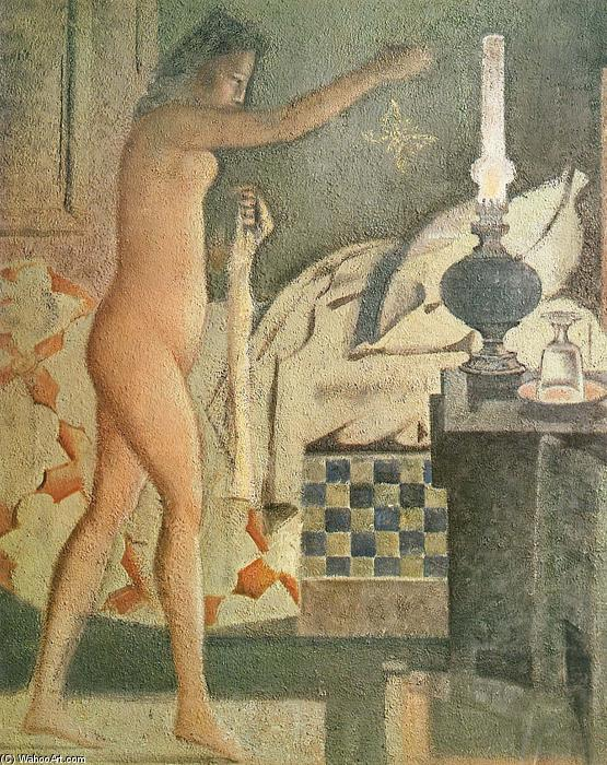 famous painting The Moth of Balthus (Balthasar Klossowski)