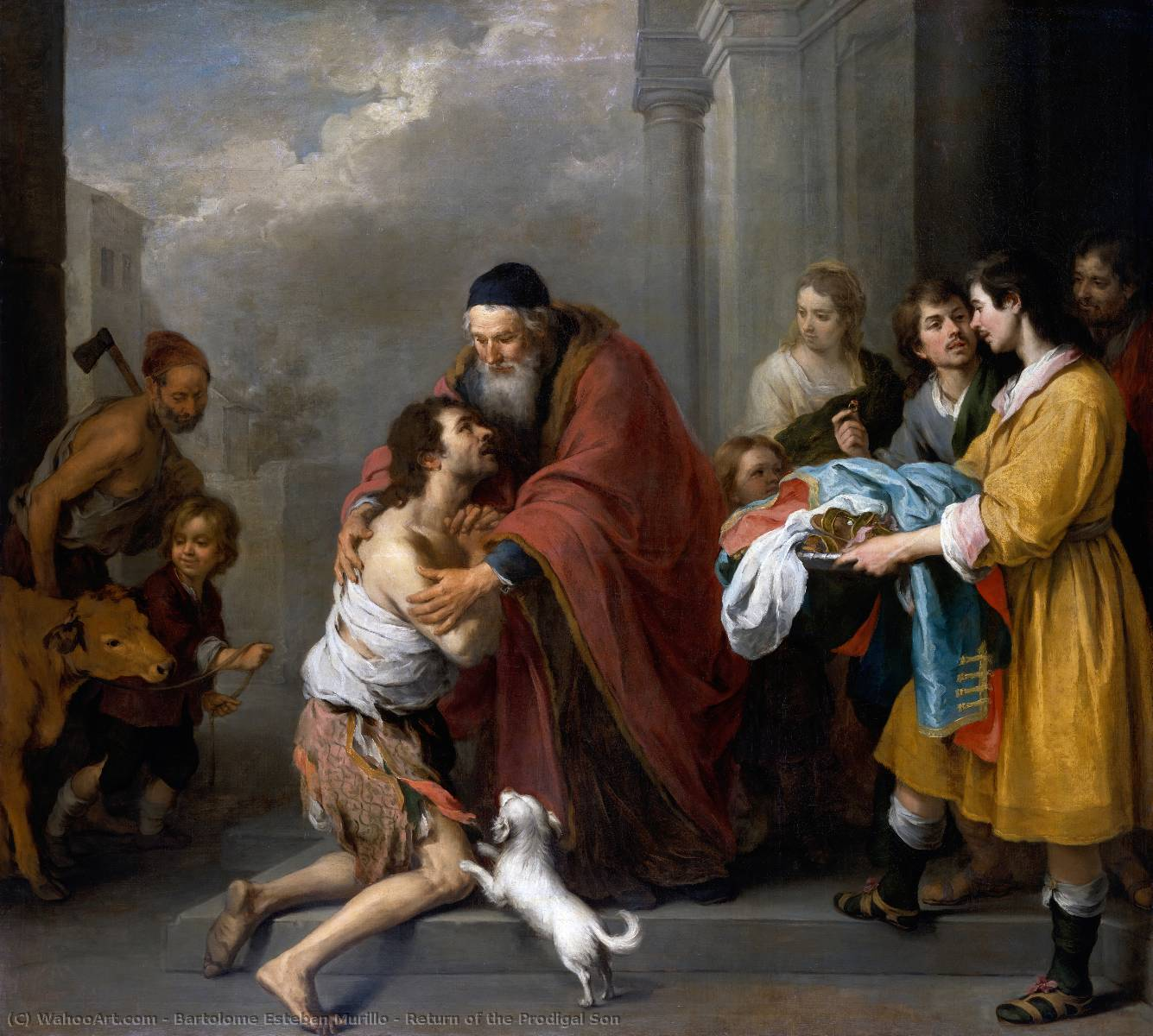 famous painting Return of the Prodigal Son of Bartolome Esteban Murillo
