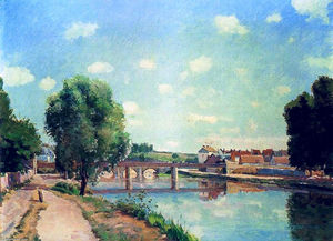 Camille Pissarro - The Railway Bridge, Pontoise