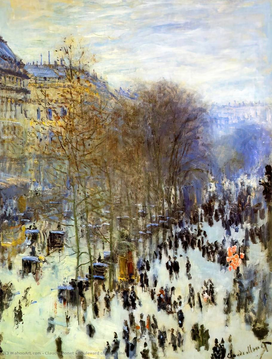famous painting Boulevard of Capucines of Claude Monet