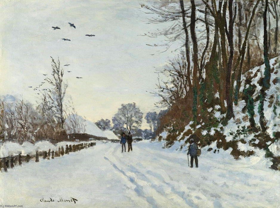 famous painting The Road to the Farm of Saint-Simeon in Winter of Claude Monet