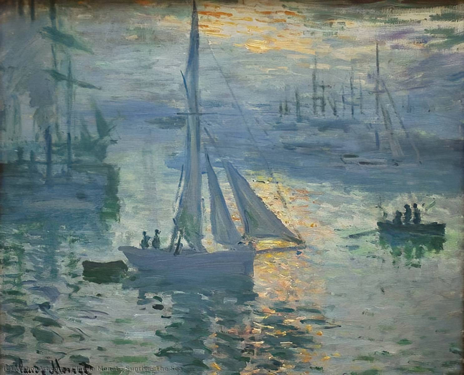 Order Museum Quality Copies | Sunrise, The Sea by Claude Monet | Most-Famous-Paintings.com