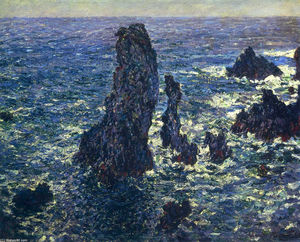 Claude Monet - The Pyramids, Cliffs at Belle-Ile