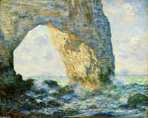 Claude Monet - The Manneport, Rock Arch West of Etretat