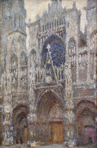 Claude Monet - Rouen Cathedral, Grey Weather