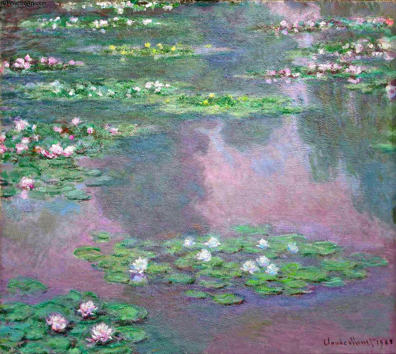 famous painting Water Lilies (14) of Claude Monet