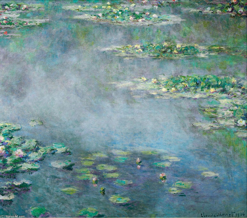 Order Reproductions | Water Lilies (18) by Claude Monet | Most-Famous-Paintings.com