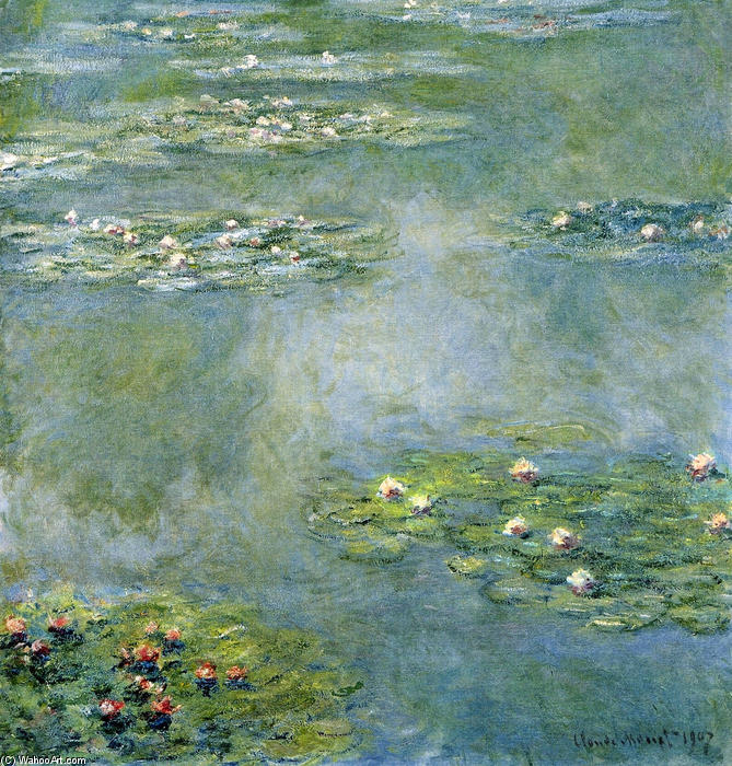 famous painting Water Lilies (27) of Claude Monet