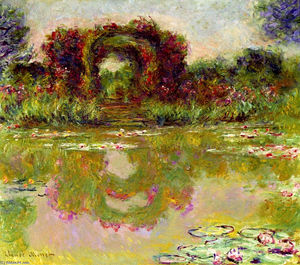Claude Monet - Rose Arches at Giverny