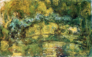 Claude Monet - The Japanis Bridge (Footbridge over the Water-Lily Pond)