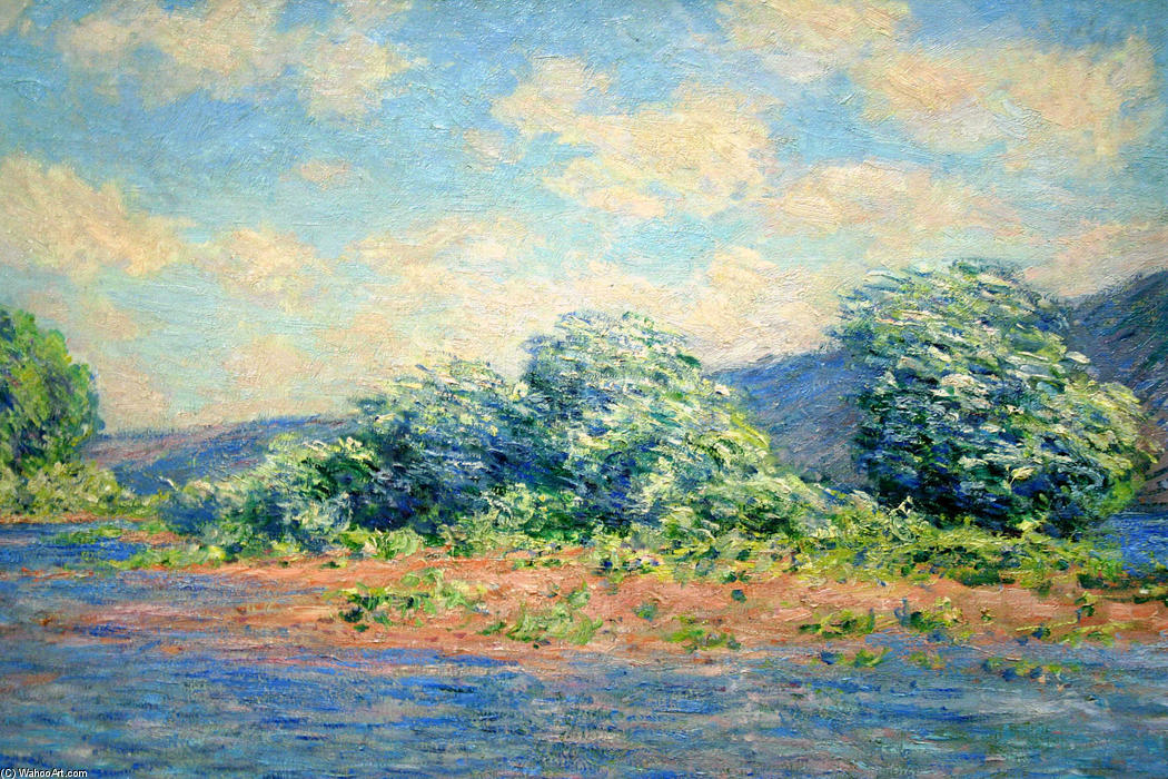 famous painting The Seine at Port-Villez of Claude Monet