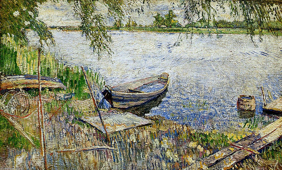 famous painting Boat at a shore Sun of David Davidovich Burliuk