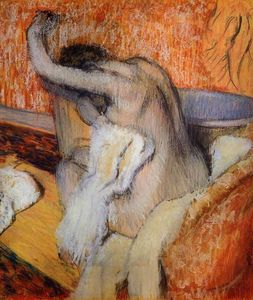 Edgar Degas - After the Bath (Woman Drying Herself)