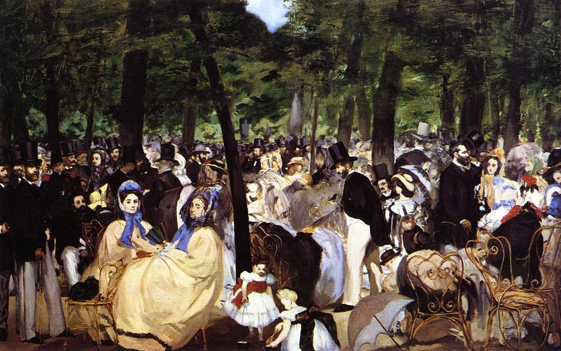 famous painting Music in the Tuileries Garden of Edouard Manet