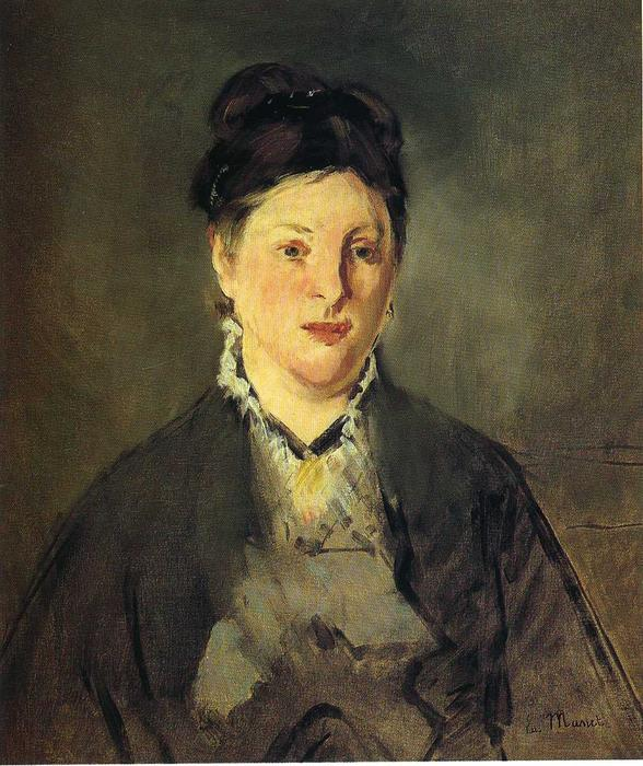 famous painting Portrait of Suzanne Manet of Edouard Manet