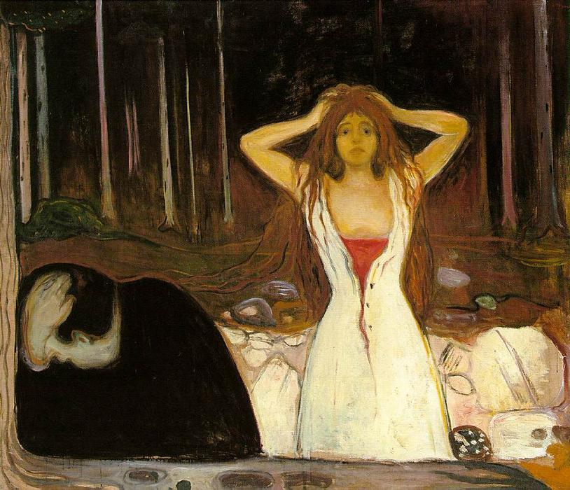 Order Paintings Reproductions | Ashes by Edvard Munch | Most-Famous-Paintings.com