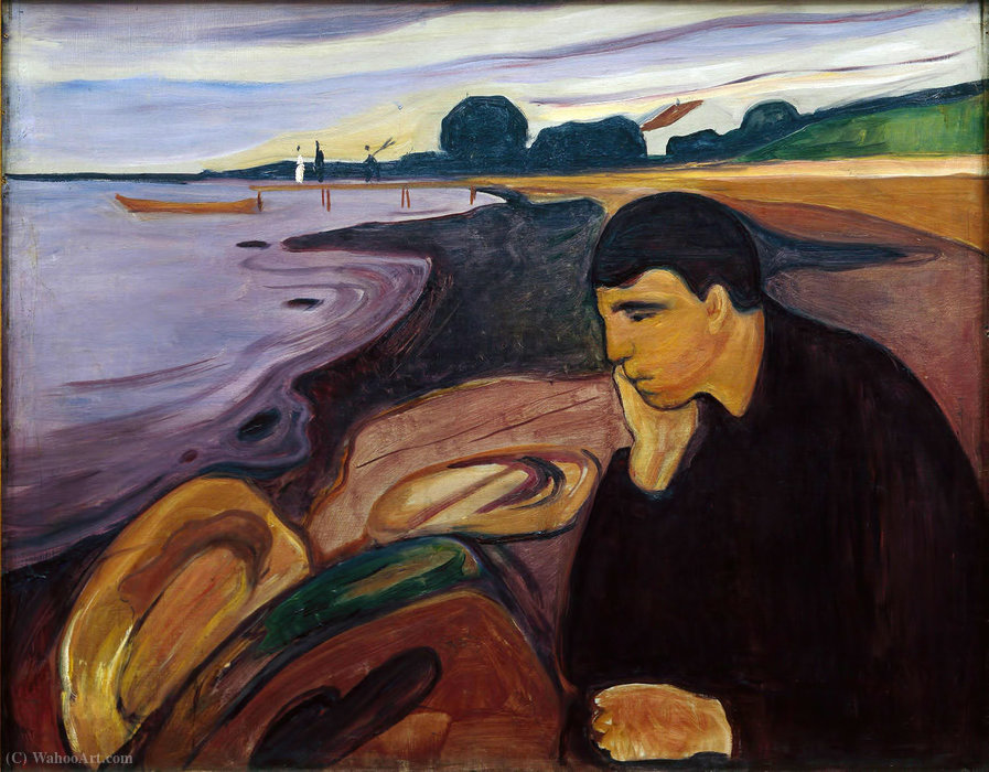 famous painting Melancholy of Edvard Munch
