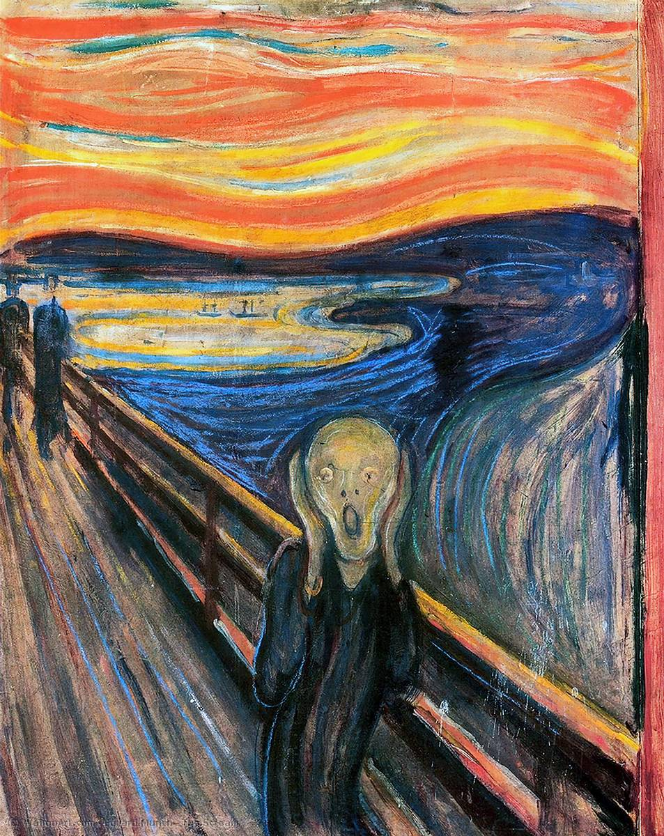 Order Oil Painting : The Scream by Edvard Munch | Most-Famous-Paintings.com