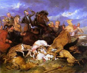 Edwin Henry Landseer - The Hunting of Chevy Chase