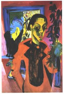 Ernst Ludwig Kirchner - Self-portrait with Shadow