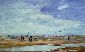 Eugène Louis Boudin - Deauville, the Beach, Low Tide