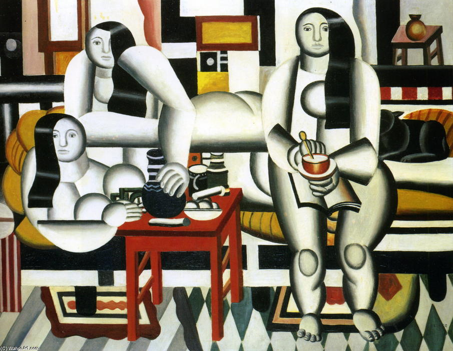 famous painting The Breakfast of Fernand Leger