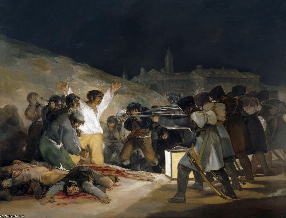 Order Museum Quality Copies | The Third of May 1808 (Execution of the Defenders of Madrid) by Francisco De Goya | Most-Famous-Paintings.com