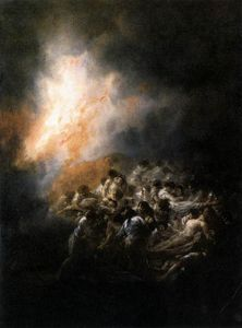 Francisco De Goya - Fire at Night