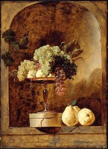Frans Snyders - Grapes, Peaches and Quinces in a Niche