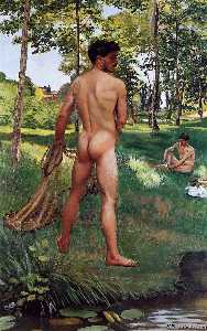 Jean Frederic Bazille - The Fisherman with a Net