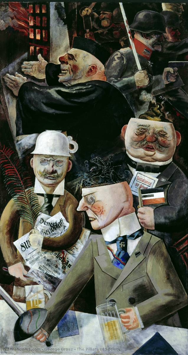| The Pillars of Society by George Grosz | Most-Famous-Paintings.com